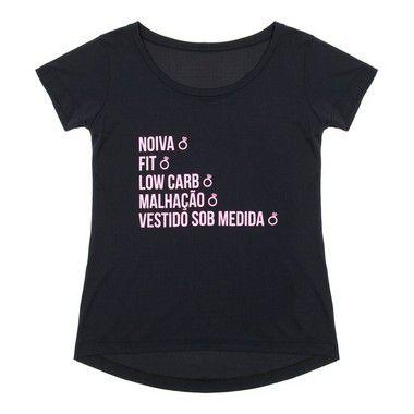 Camiseta Noiva cor preta
