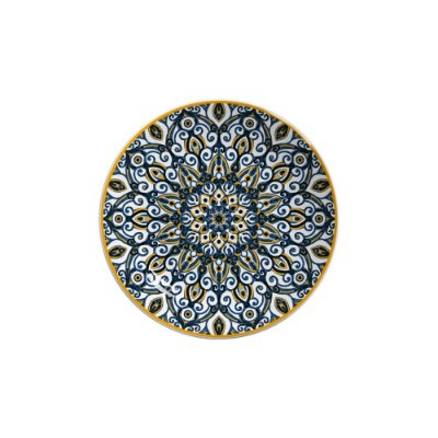 Prato Sobremesa 20cm Bombaim - Cerâmica Scalla