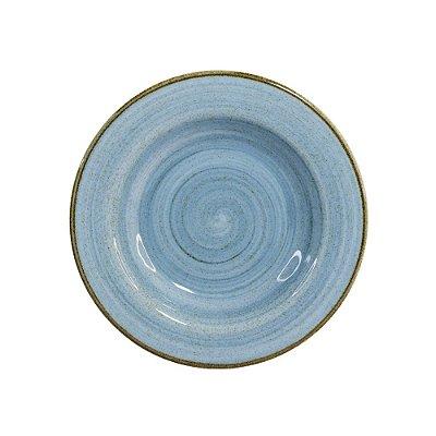 Prato Fundo 23,5cm Artisan Azul 340ml - Corona