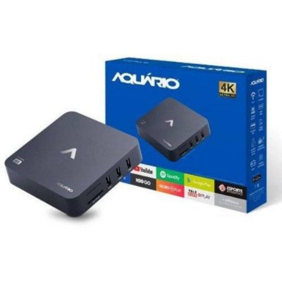 Smart TV Box Android Conversor para Smart TV 4K Aquário STV2000