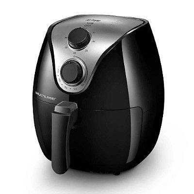 Fritadeira Elétrica sem Óleo Air Fryer CE021 4 Litros 1500W Multilaser Preta 110V