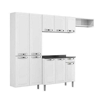 Cozinha Completa Com Balcão Rose 10 portas 1 Gaveta Branco Itatiaia