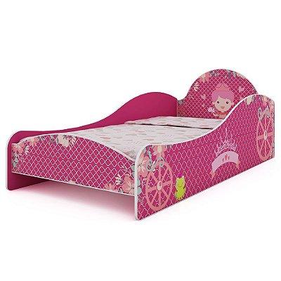 Cama Princesinha 090 Gelius Pink Ploc Infantil