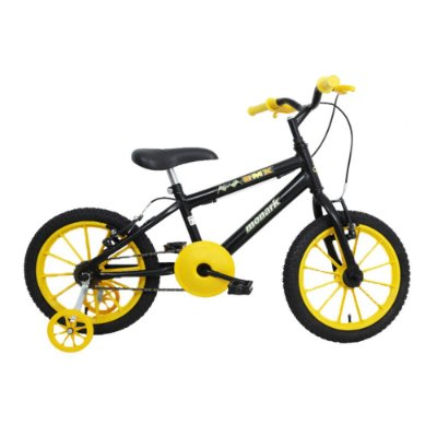 Bicicleta Aro16 BMX Serie Especial Preto Fosco/Amarelo Monark