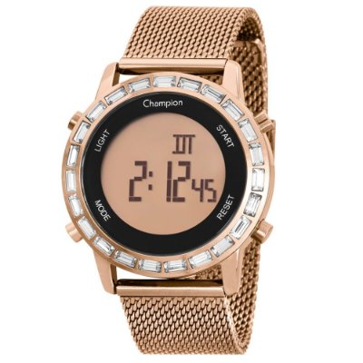 Relógio Feminino Digital CH48117X Rosê Champion