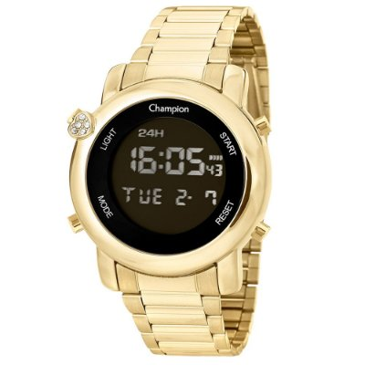 Relógio Feminino Digital CH48126H Dourado Champion