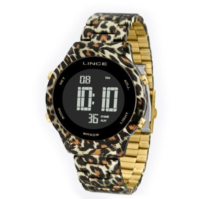 Relógio Feminino Digital SDPH103L KY09PXK Animal Print Lince