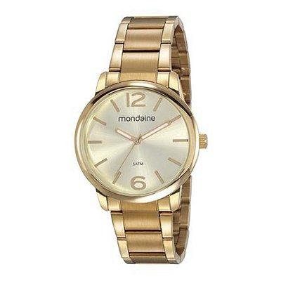 Relógio Feminino 53819LPMVDE1 Dourado Mondaine