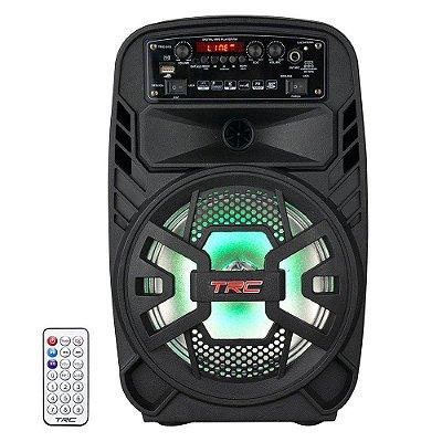 Caixa de Som Bluetooth TRC 510 Ativa Amplificada 100W USB - TRC