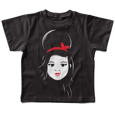 Camiseta Infantil Amy Winehouse, Let's Rock Baby