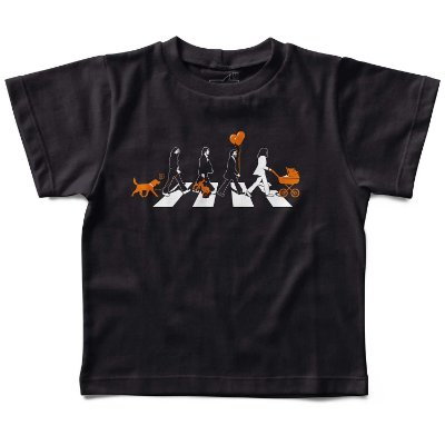 Camiseta Beatles Abbey Road Babás, Let's Rock Baby