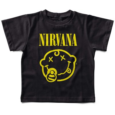 Camiseta Nirvana Chupeta, Let's Rock Baby