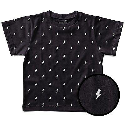 Camiseta Infantil Estampinha Raios ACDC, Let's Rock Baby