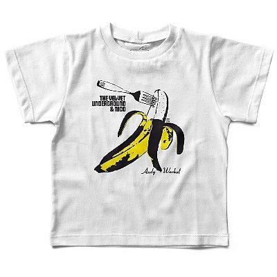 Camiseta Infantil Velvet Underground Banana, Let's Rock Baby