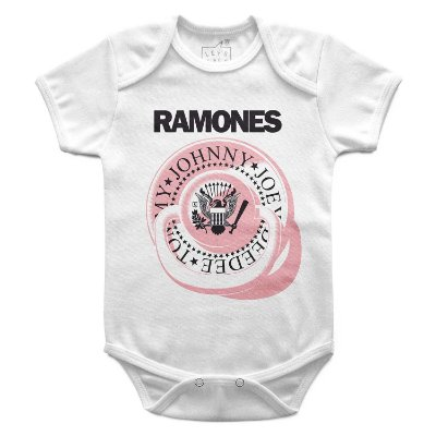 Body Bebê Ramones Chupeta, Let's Rock Baby