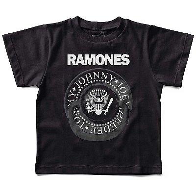 Camiseta Infantil Ramones Chupeta, Let's Rock Baby