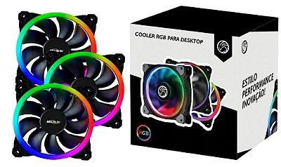 Kit Cooler RGB Para Desktop BrazilPC