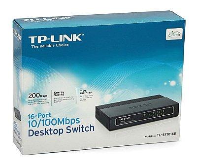 Switch 16-Portas TP-LINK 10/100Mbps TL-SF1016D