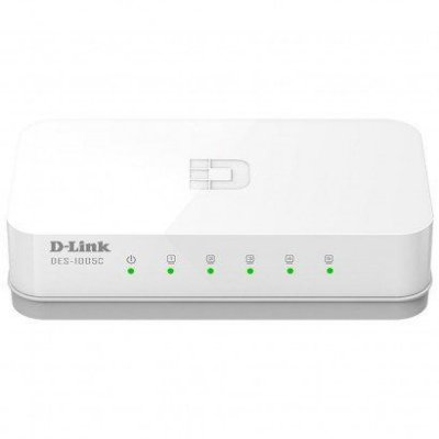 Switch Ethernet D-Link DES-1005C 5 portas 10/100Mbps
