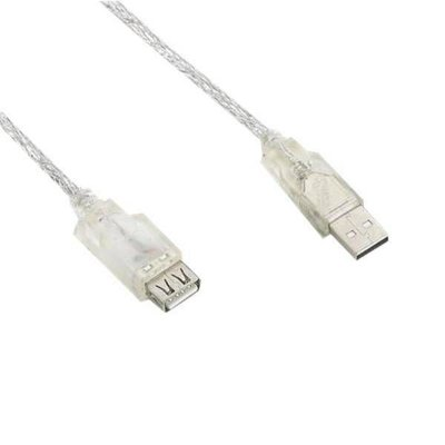 Cabo USB 2.0 Extensor FCE-5 Macho e Fêmea 5 Metros