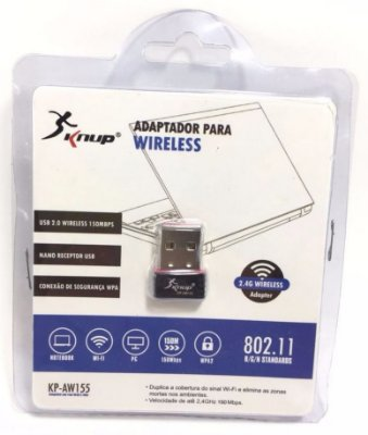 Adaptador Wireless Knup 150Mbps