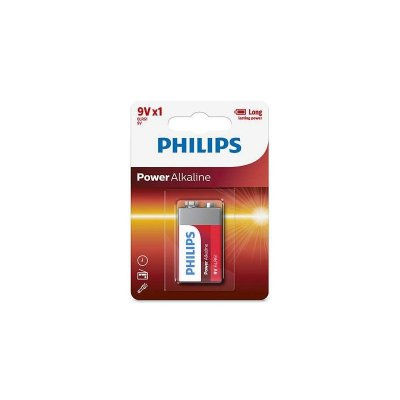 Bateria 9V Alcalina PowerLife PHILIPS