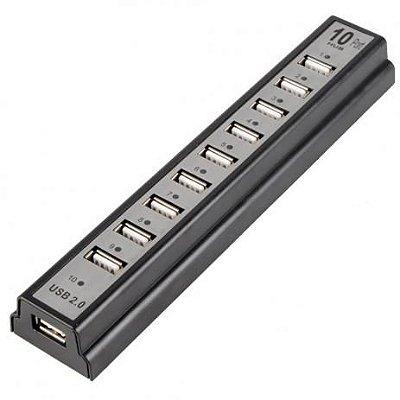 HUB USB 10 Portas com Fonte HB-T69 - Knup