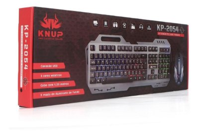 Kit Teclado e Mouse Gamer Knup KP-2054