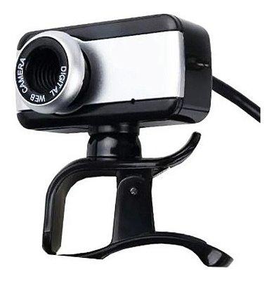 Webcam BRAZILPC V4 1.5M Com Microfone Preto/Prata - OEM