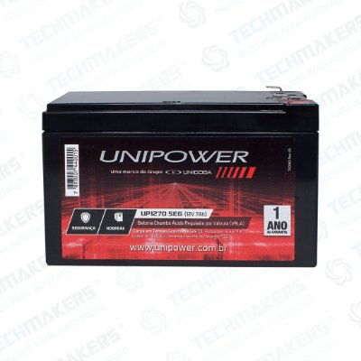 Bateria Selada 12V 7AH Unipower UP1270SEG