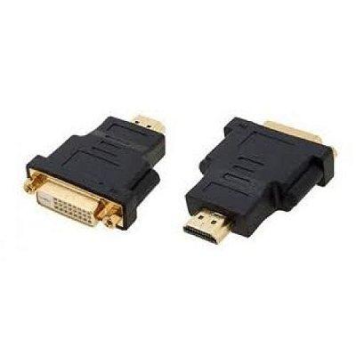 Adaptador HDMI Macho p/ DVI Fêmea