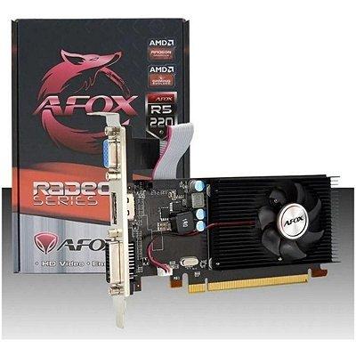 Placa de Vídeo AFOX AMD Radeon R5 220 2GB DDR3 64 Bits