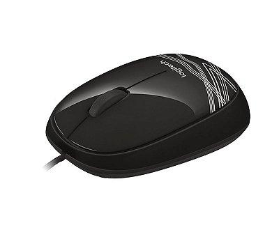 Mouse com fio USB Logitech M105 Preto