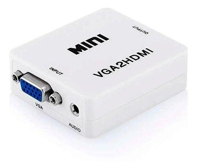 Adaptador VGA Para HDMI Com Conector de Áudio