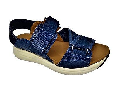 Sandália Opananken  Anabela  Com Velcro Ajustável Confortável  65117