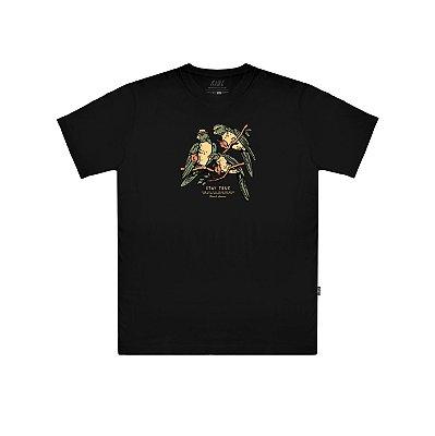 Camiseta Plano C The Parrots Preta