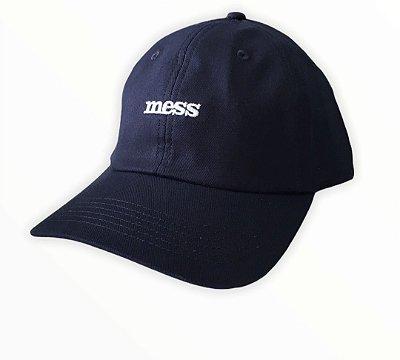 Bone Mess Cool Logo Dad Hat Strapback Azul Marinho