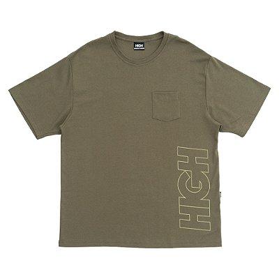 Camiseta High Outline Logo Verde Oliva