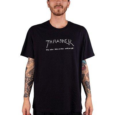 Camiseta Thrasher New Religon Preto