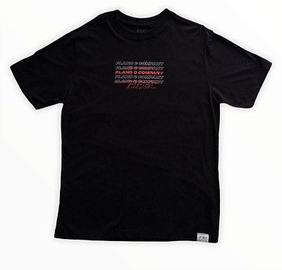 Camiseta Plano C Letreiro Preta