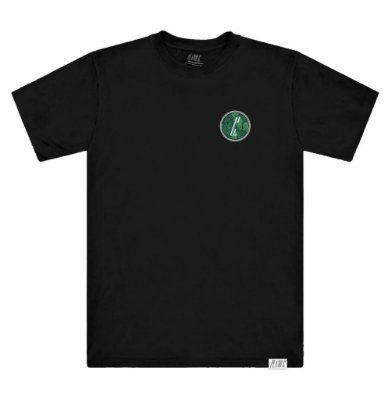 Camiseta Plano C Folhagem Preta