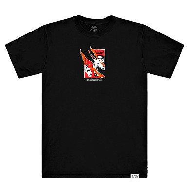 Camiseta Plano C Flame Poster Preta