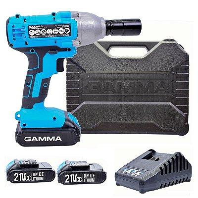 Chave de Impacto a Bateria 21V 280 N.m Bivolt com 2 Baterias e Maleta - GAMMA-G12201BR