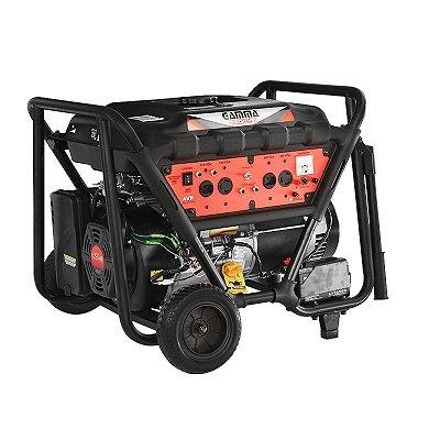 Gerador de Energia à Gasolina 4T Partida Elétrica e Manual 6,5 Kva 110/220V - GAMMA-GE3467B