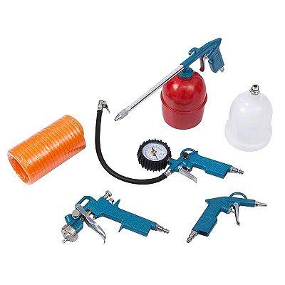 Jogo de Acessórios para Compressor de Ar com 5 Peças - GAMMA-G1444/BR