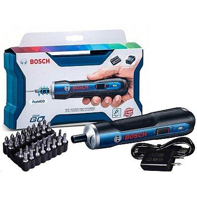 Parafusadeira à Bateria Bosch Go 3,6V com Carregador Bivolt e Maleta 06019H20E0-000