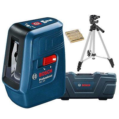 Nível Laser 3 Linhas Vermelhas 15m Nivelox GLL 3X - BOSCH-0601063XG0-000