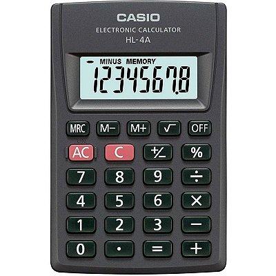 Calculadora Portátil De Bolso Com Visor Grande Casio Hl-4a