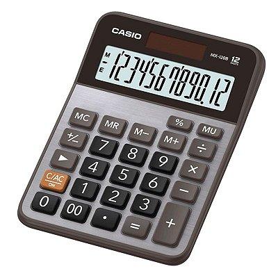 Calculadora De Mesa Bateria Solar Casio 12 Dígitos Mx-120b
