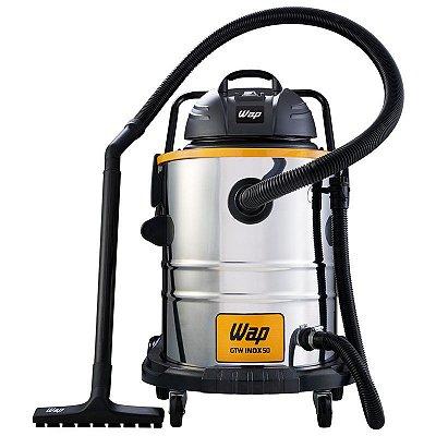 Aspirador De Pó E Água Wap Gtw50 Inox 1600w 50 Litros